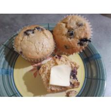 Muffin bleuets, érable et choco noir