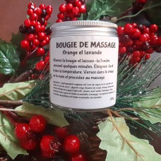 Bougie de massage (Orange et lavande)